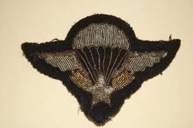 Insigne parachutiste en tissu Sans-t11