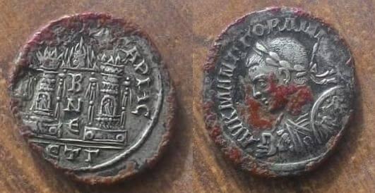 Limpieza de óxidos de cobre en una tridracma de Gordiano III de Caesaraea-Eusebia. 59698012