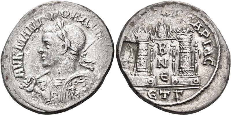 Limpieza de óxidos de cobre en una tridracma de Gordiano III de Caesaraea-Eusebia. Image010