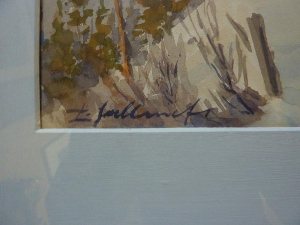 unidentified signature on Scandinavian? plein air watercolour 00710