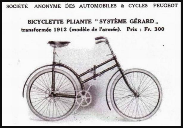 Peugeot - pliant Capitaine Gerard ,  model 1912  ww1 Uu10