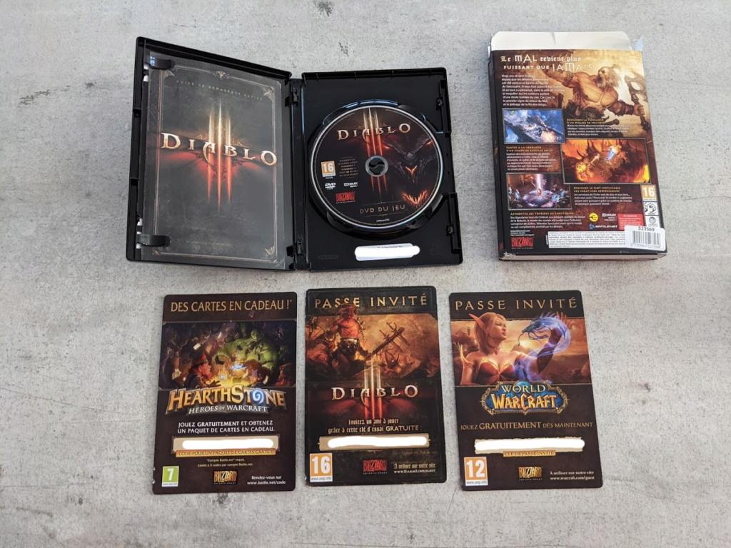 [don] Diablo 3 PC en boite  code utilisé Pxl_2020