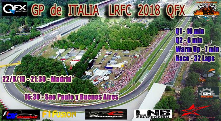 22/8/18  GP de ITALIA LrFC 2018 QFX Cartel20