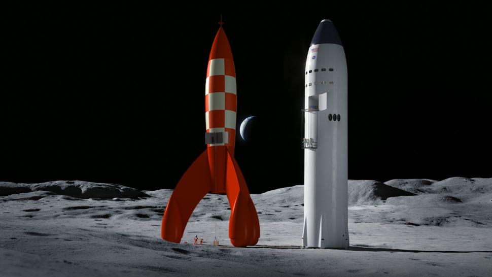 [Artemis] Atterrisseur habité (Crewed Lunar Lander) - Page 6 Tintin10