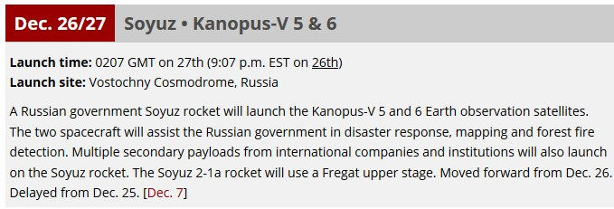 Soyouz-2.1a (Kanopouss-V n°5 & 6) - 27.12.2018 Launch10