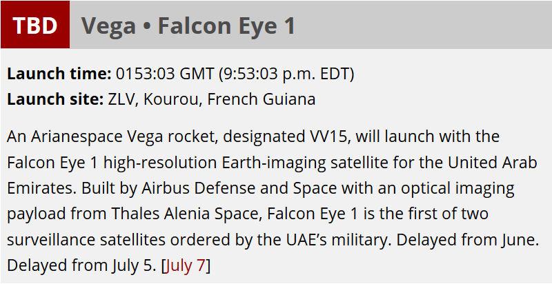 Vega VV15 (Falcon Eye 1) - 11.7.2019 - [Echec] Previs10