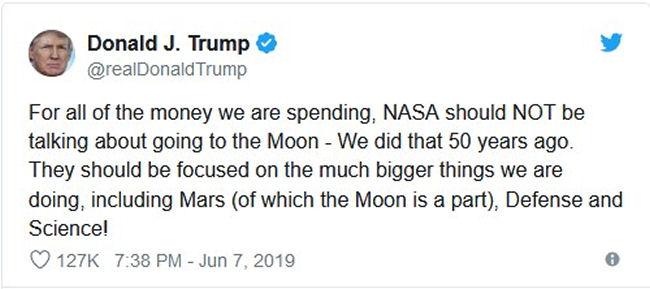 Politique spatiale de Donald Trump, 45e Président des USA - Page 36 Tweet_10