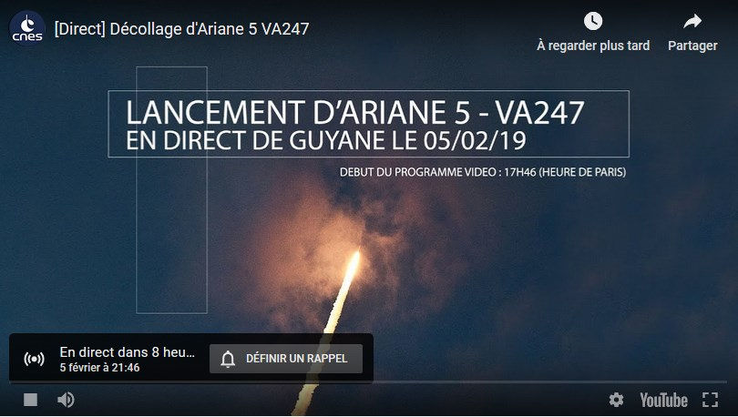 Ariane 5 VA247 (HS-4/SGS-1 + GSAT-31) - 5.2.2019 Vol_va10
