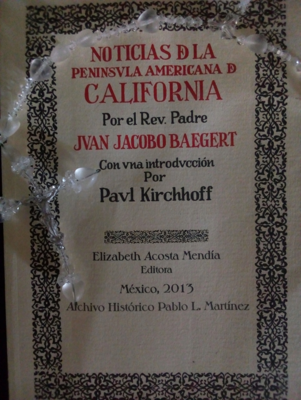 Noticias de la Península de California - Juan Jacobo Baegert 1772 Baeger10