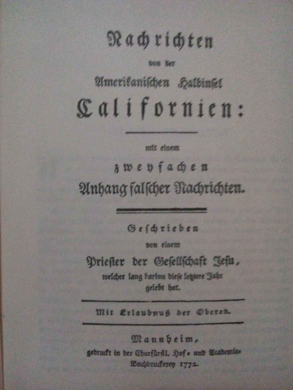 Noticias de la Península de California - Juan Jacobo Baegert 1772 Baeger11