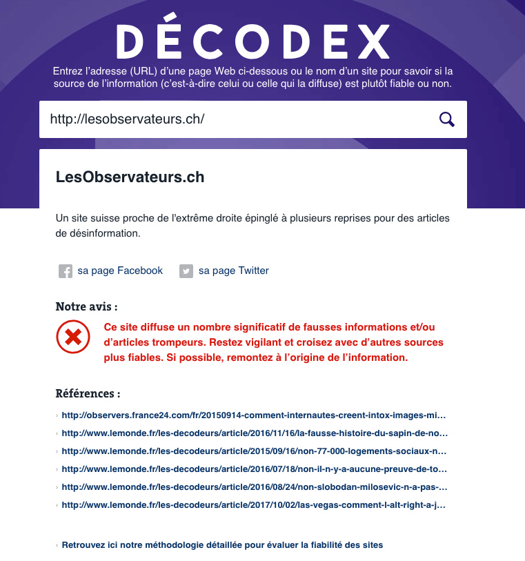 Décodex : outils contre les fausses informations Decode10