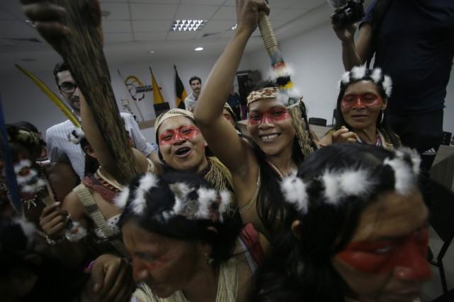 Équateur: les Waoranis remportent une bataille contre l'industrie pétrolière Eqa10