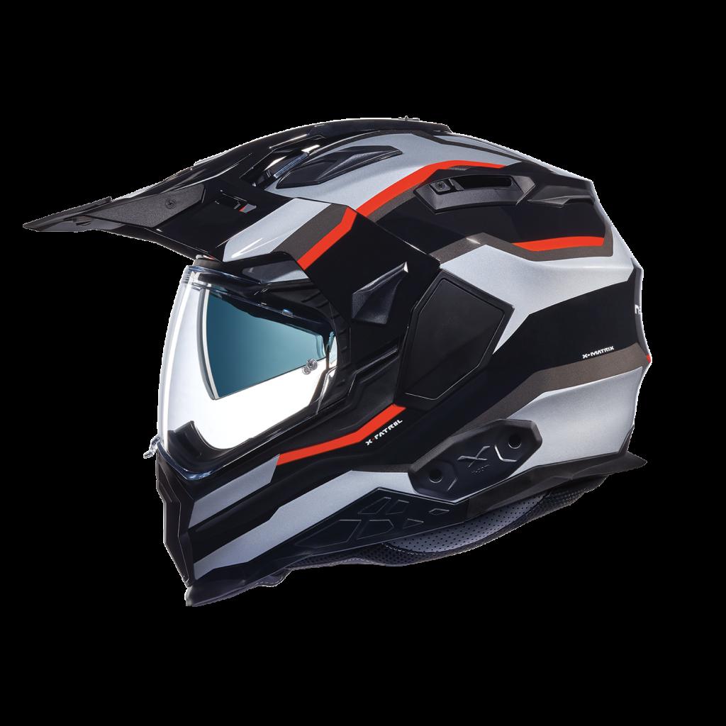 Casque moto enduro Caberg XTRACE LUX BLANC/ROUGE/BLEU X_wed210