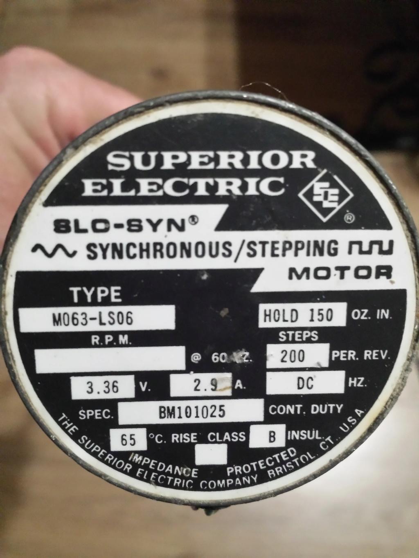 """besoin d'aide pour des moteur """"SUPERIOR ELECTRIC"""" 20200613"""