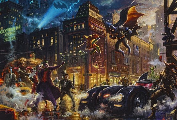 Thomas Kinkade Studios Paints the DC Universe Ahr0cd10