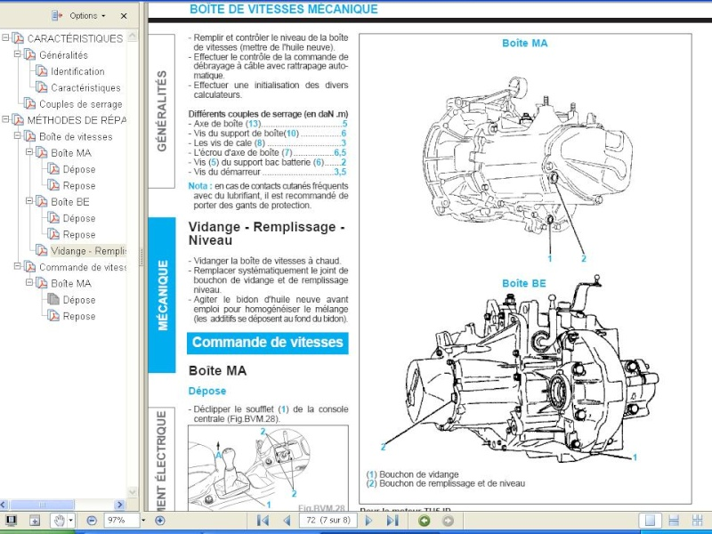 Vidange boite 207 1,4L essence 73cv Vidang10
