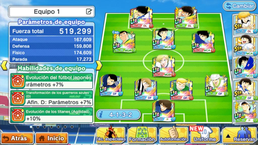 Captain Tsubasa: Tatakae Dream Team (Juego para móviles) - Página 7 Screen10