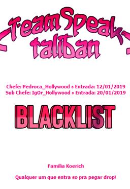 [26/1/2019] - Criação de regras para blacklist - Local: [Jogo] 211