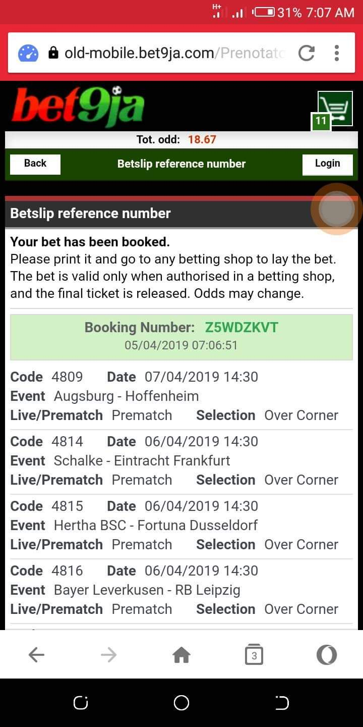 Weekend Game Bet9ja Booking Code 85% Sure 56551710