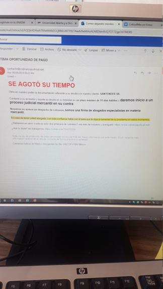 DEJE DE HACER PAGOS A CREDITO SANTANDER VIA NOMINA 20190410