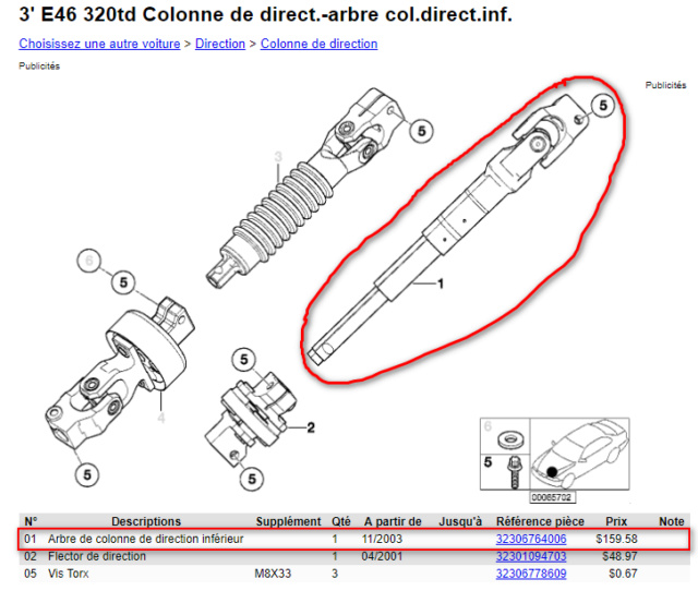 [BMW E46 320TD compact pack M an 2004] direction floue (Résolu ) 2019-011