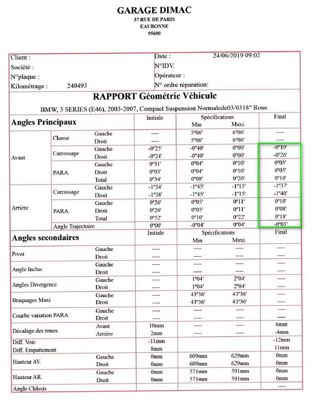 [BMW E46 320TD compact pack M an 2004] direction floue (Résolu ) - Page 2 Rappor10
