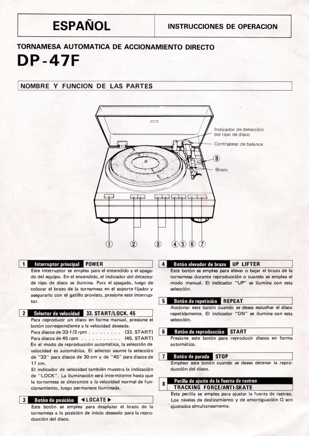voltaje tocadiscos Denon DP 47 Denon_12