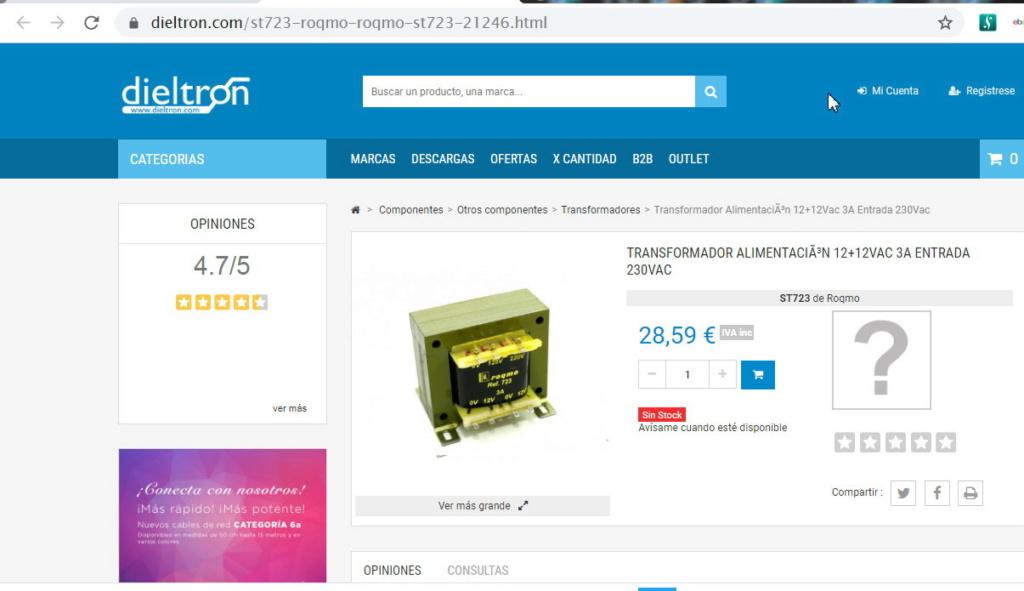 voltaje tocadiscos Denon DP 47 Trafo310