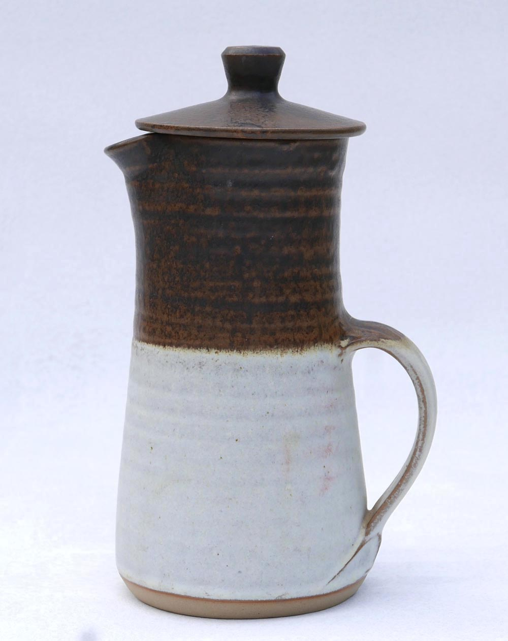 Coffee pot, WP mark - Probably Wilan Pottery, Wales  032910