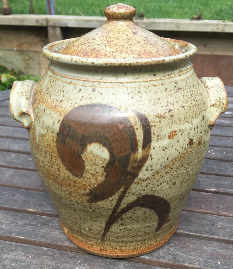large glazed pot Front12