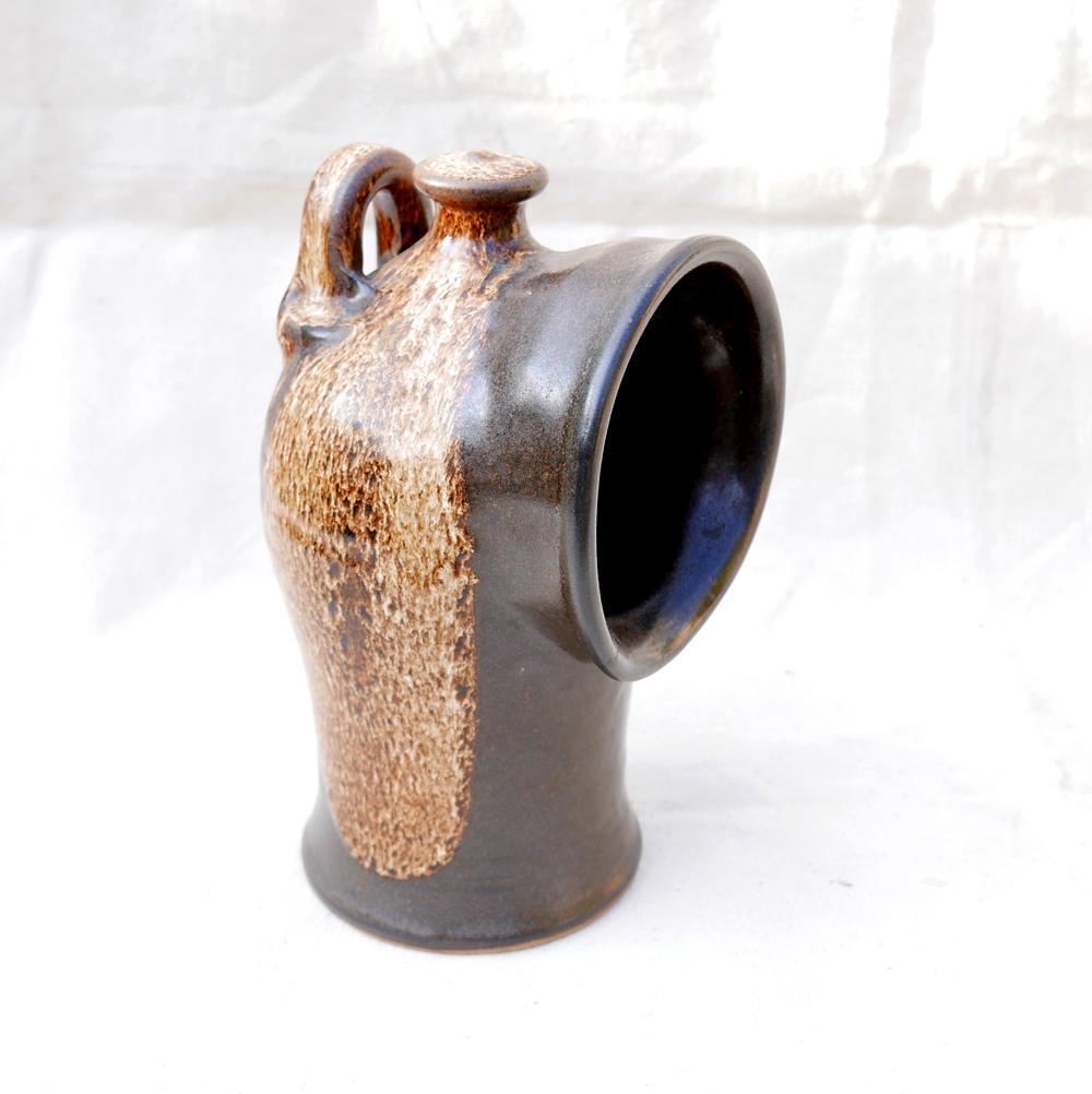 Large brown salt pig - Peter Aindow Hp80411