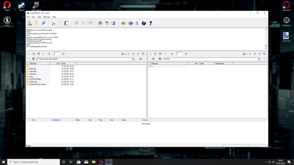 Problème étrange lorsque ma console (RG350) est connectée en FTP... 0210