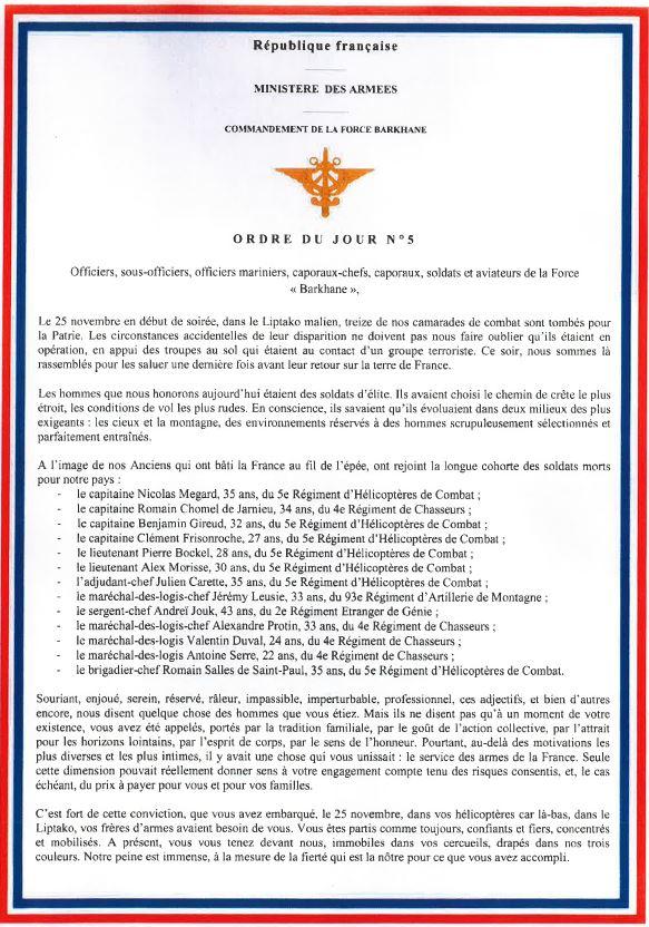 2019/12/09 Hommage officiel aux 13 soldats Morts Pour la France au Mali Hommag10