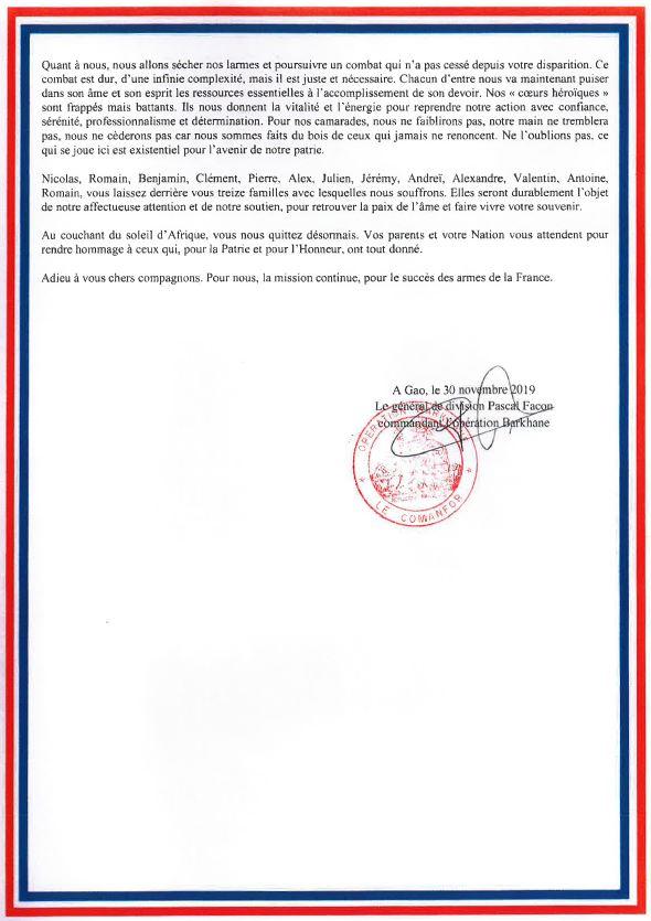 2019/12/09 Hommage officiel aux 13 soldats Morts Pour la France au Mali Hommag11