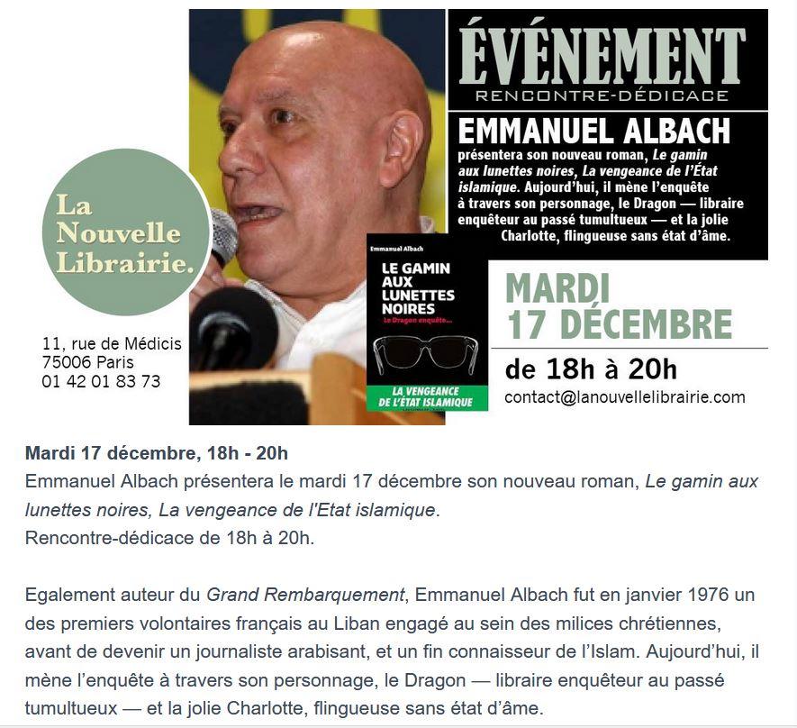 2019/12/09 Rencontres et soirées à la Nouvelle Librairie Librai14