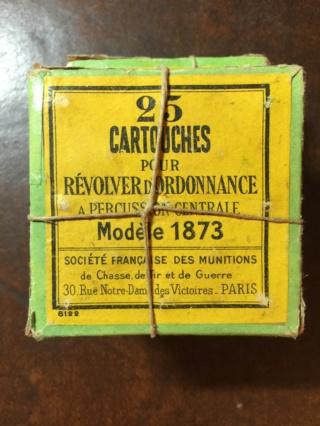 Reproduction boîte de munitions pour 1873 Cartou12