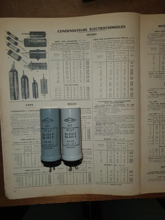 Condensateurs chimiques militaires MICRO type P Condos10
