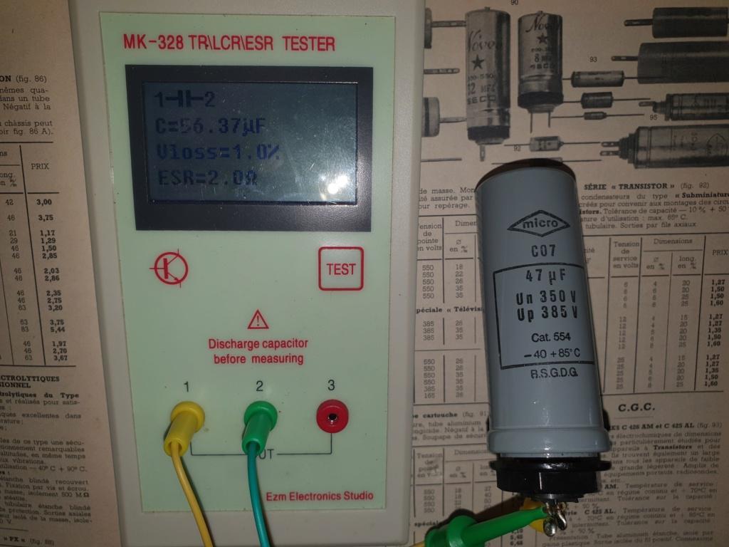 Condensateurs chimiques militaires MICRO type P Mesure10
