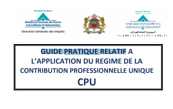 APPLICATION DU REGIME DE LA CONTRIBUTION PROFESSIONNELLE UNIQUE CPU Cpu10