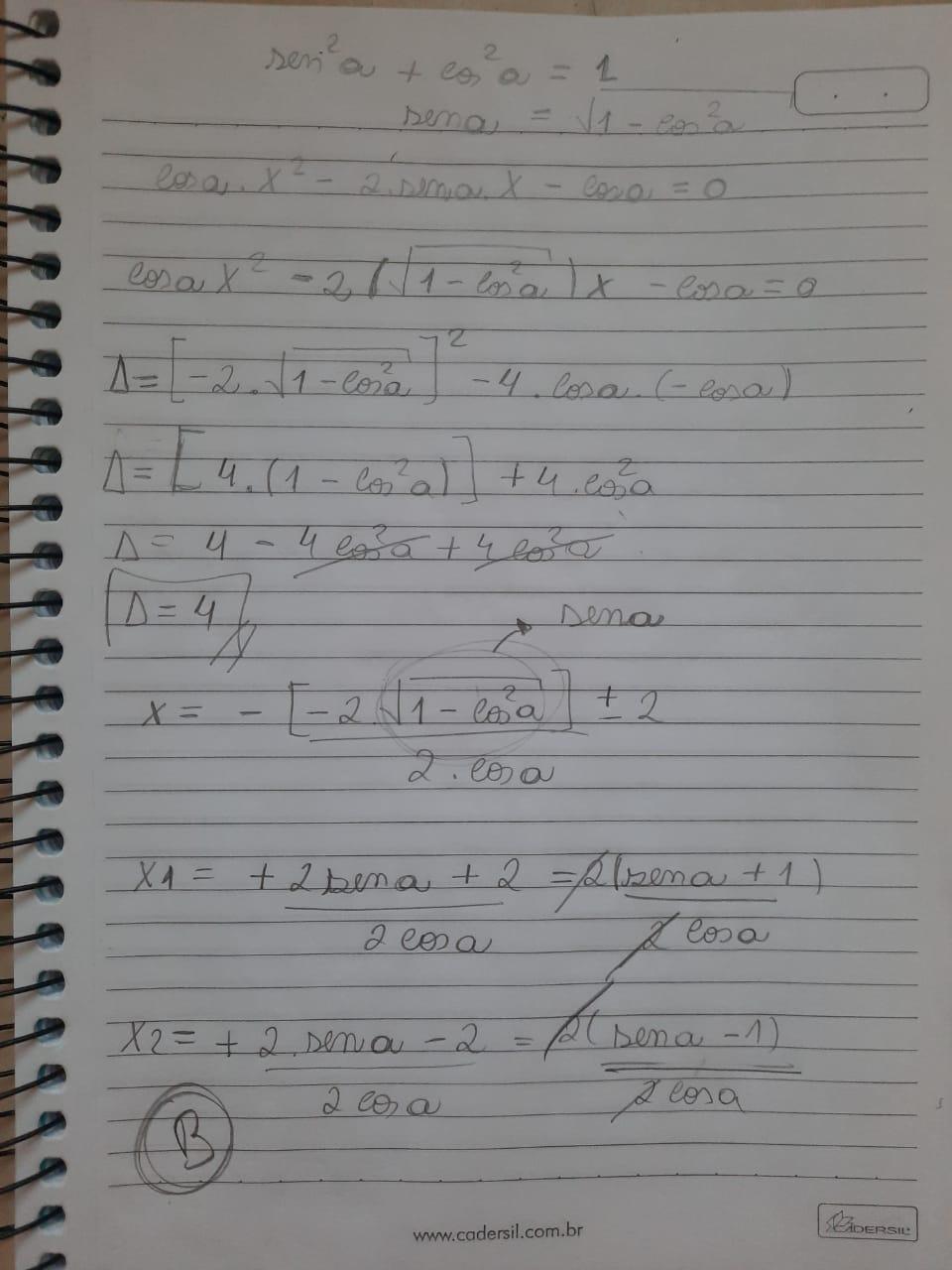 Raízes de equação trigonométrica Whatsa10