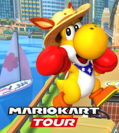 Yoshi Canguro hace su debut en Mario Kart Tour 24156410