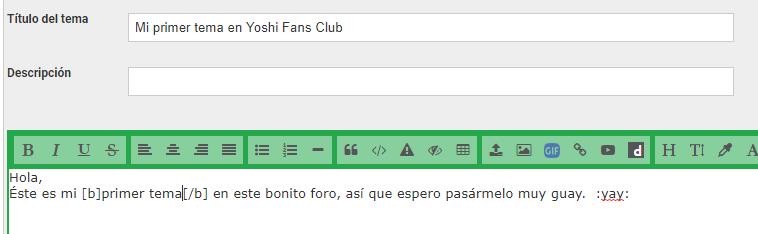 Cómo Postear en Yoshi Fans Club Nuevos13