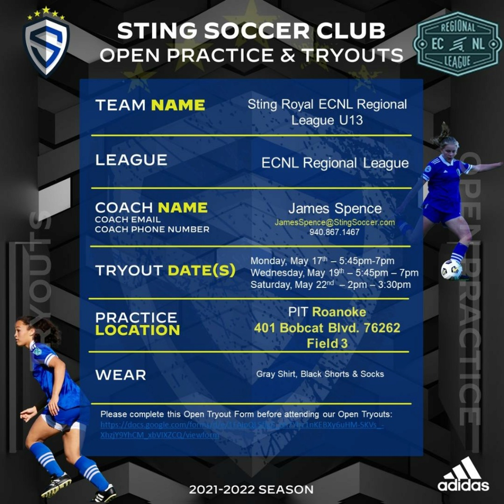 Sting Royal ECNL Regional League U13 & Girls Classic League Tryout11