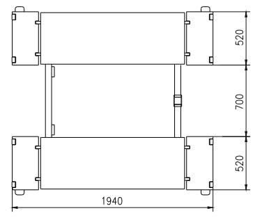 Pont ciseaux 3.5T hauteur max 1m pour ma 997 4S phase2 Dimens10