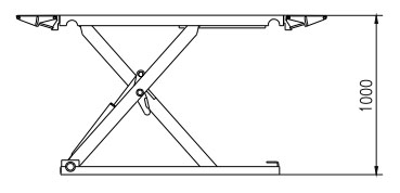 Pont ciseaux 3.5T hauteur max 1m pour ma 997 4S phase2 Dimens11