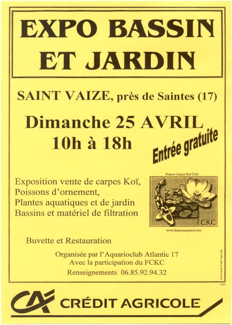 Salon du bassin et du jardin : dimanche 25 avril 2010 St Vaize Affich10