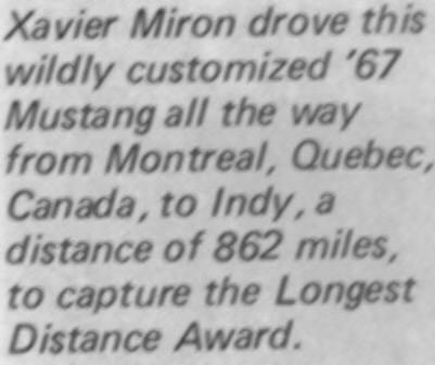 La Mustang 1967 modifié par Xavier Miron de Montréal Xavier10