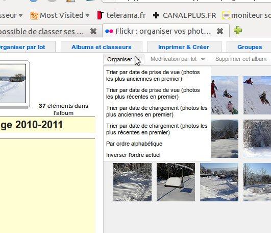Impossible de classer ses photos sur flickr ?? Classe10