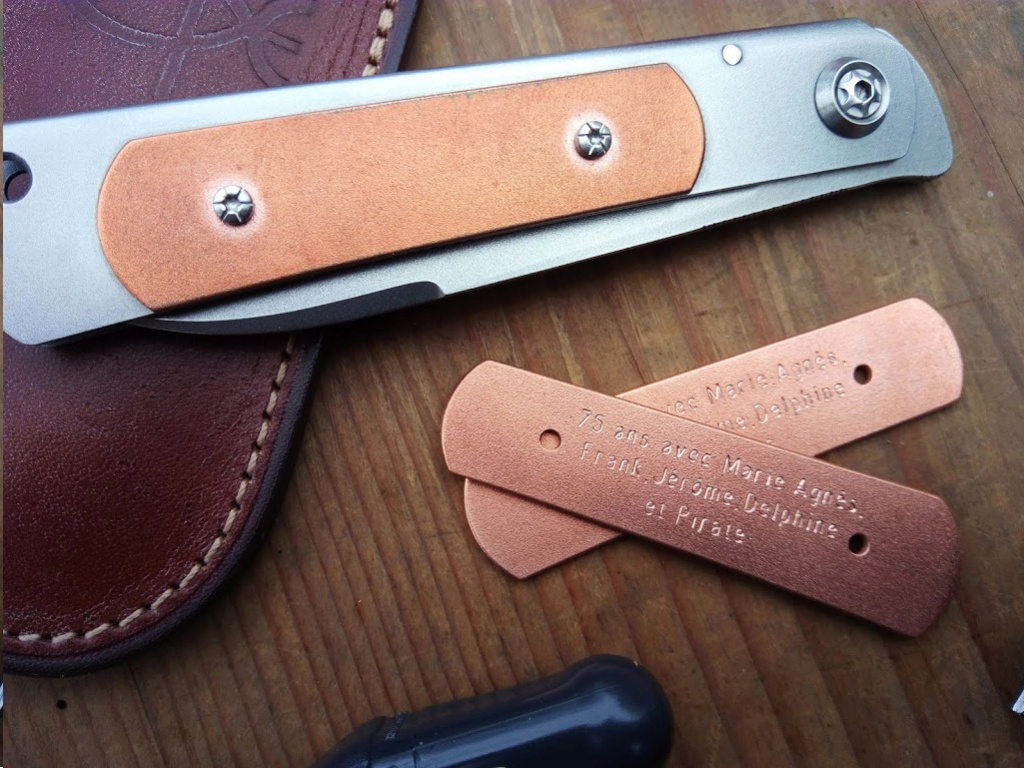 Personnalisez vous vos couteaux ? Nouve219