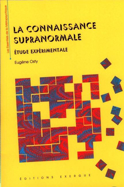 Livre - La Connaissance Supra normale Osty0110
